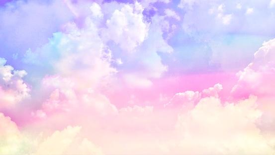 Pastel cloudy sky