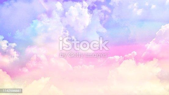 istock Pastel cloudy sky 1142596661