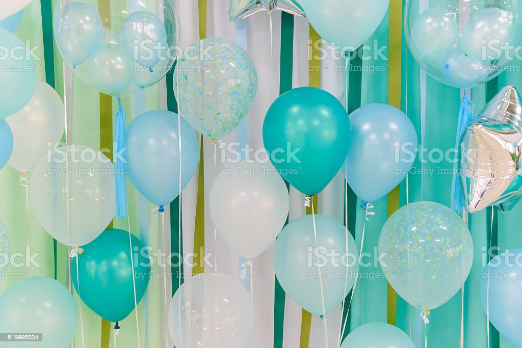 Pastel color balloons for background – Foto