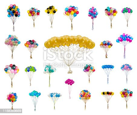 istock pastel color balloons on a white 1158369669