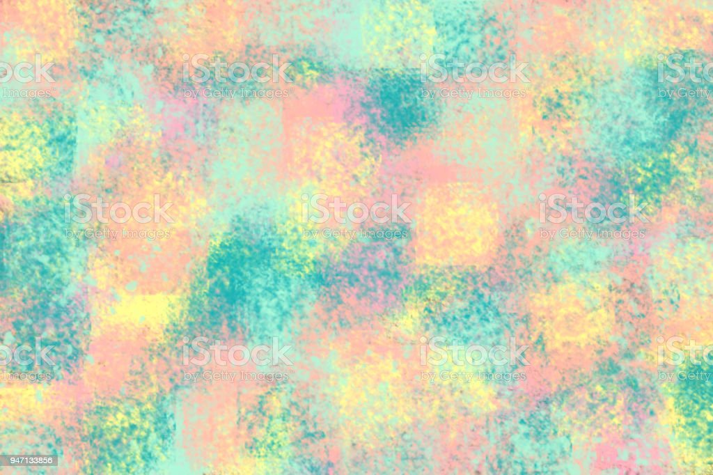 Pastel Color Didital Paint Art Abstract Background Stock