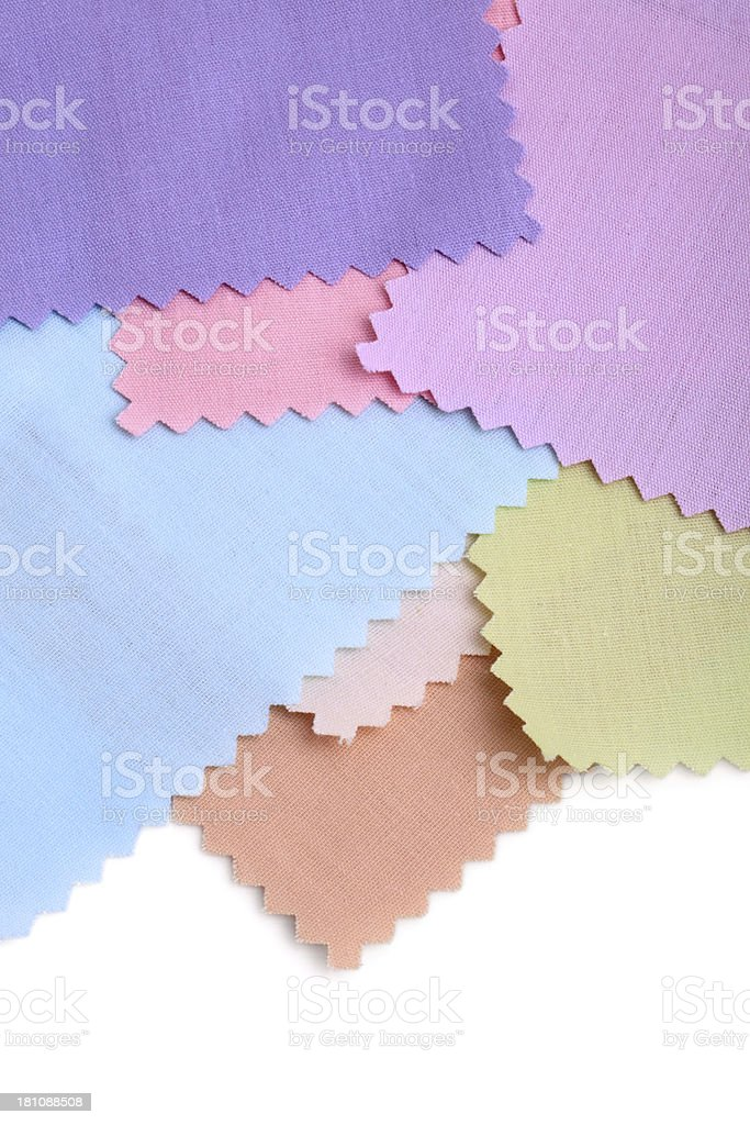 Pastel Color Fabric Swatch Background royalty-free stock photo