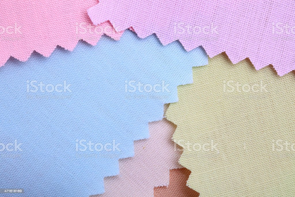 Pastel Color Stitched Fabric Background royalty-free stock photo