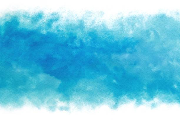 pastell farbigen blauen himmel abstrakt auf vintage aquarellfarbe hintergrund - ozean kunst stock-fotos und bilder