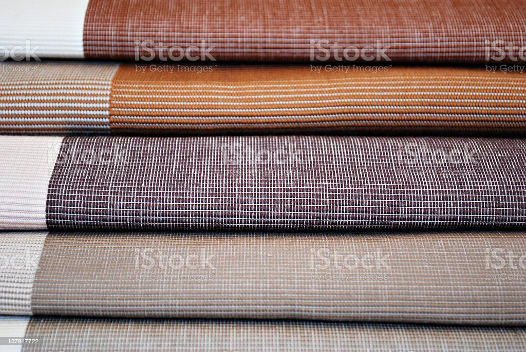 Pastel Colored Clothing Fabric Textile stock photo