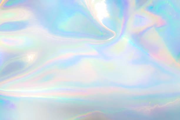 パステルカラーのホログラフィックバックグラウンド - ホログラム ストックフォトと画像
