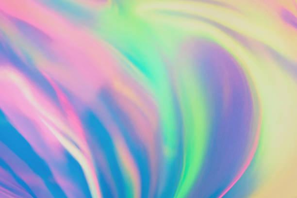 pastel colored holographic background - hologram imagens e fotografias de stock