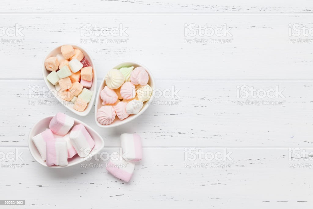Pastel colored sweets royalty-free stock photo
