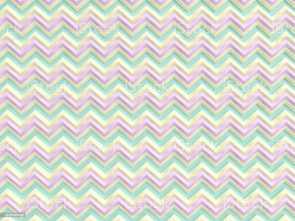 Pastel Colored Zigzag Background stock photo