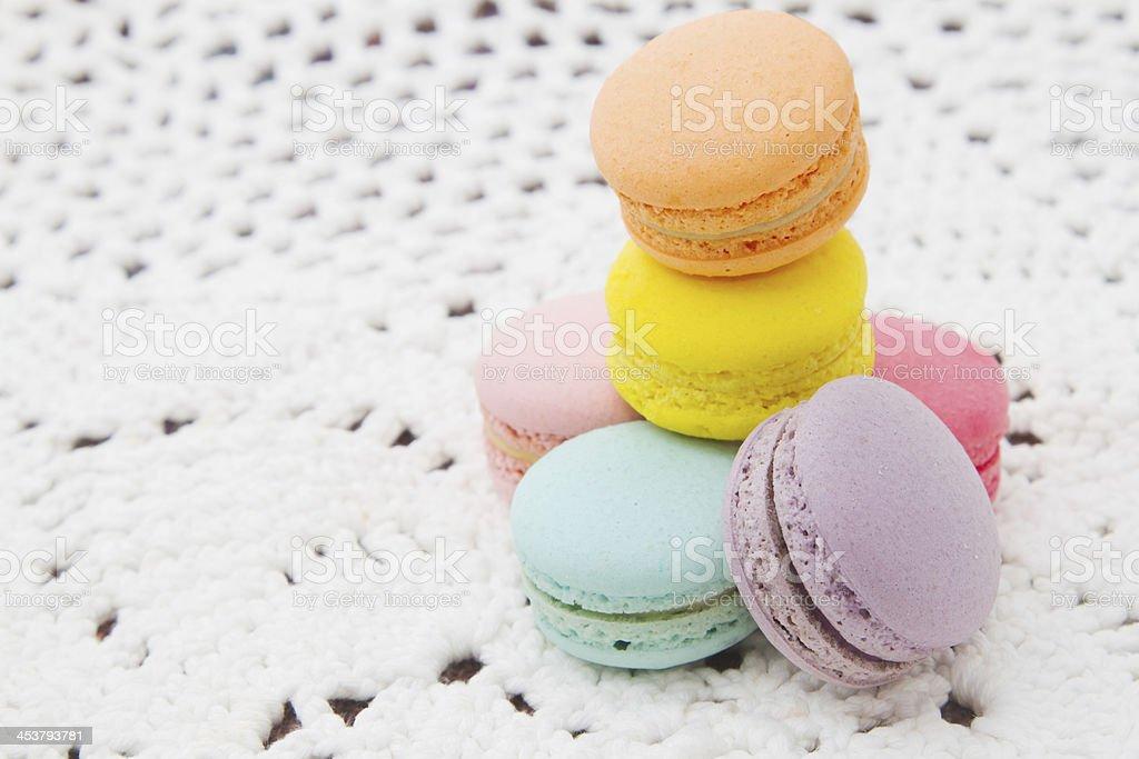 Pastel colorful macaroon royalty-free stock photo