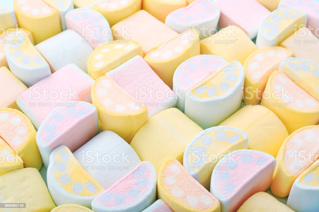 Pastel colors background of colorful sweet Marshmallows. zbiór zdjęć royalty-free