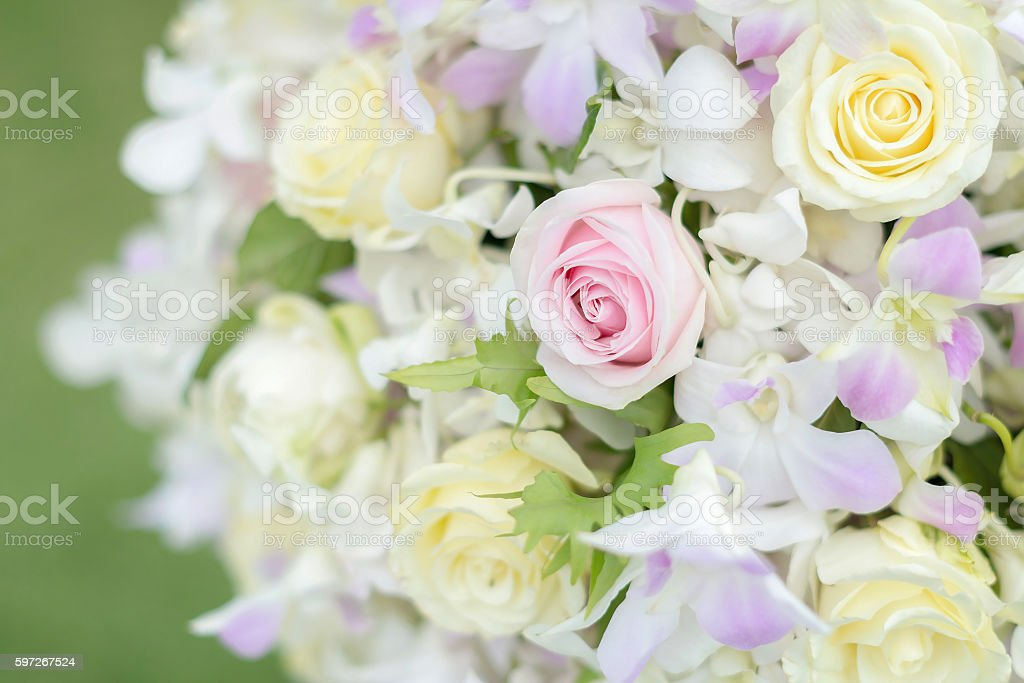Pastel colors wedding bouquet royalty-free stock photo