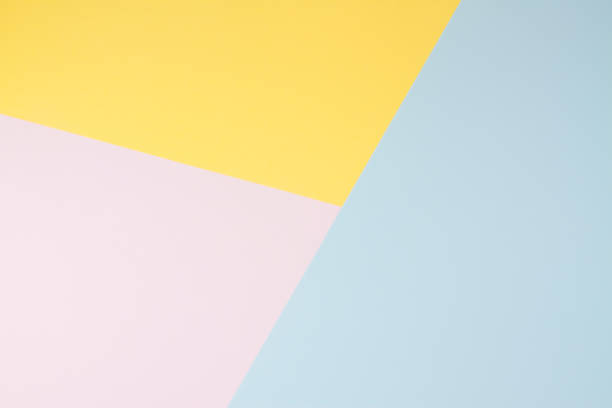 pastel coloured paper background - geometry stock photos and pictures