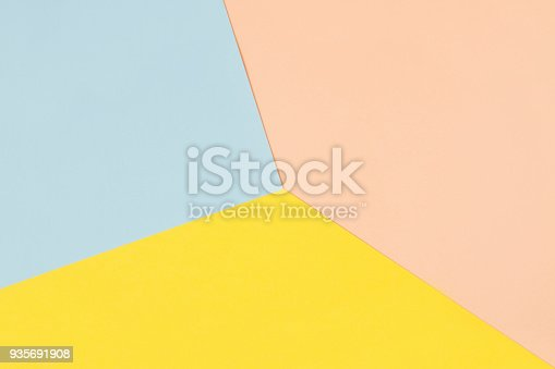 Sheets of pastel coloured papers, for abstract geometric background