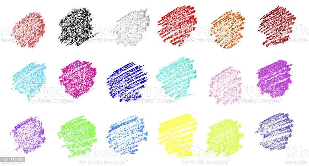 Pastel Crayon Color Drawing stock photo