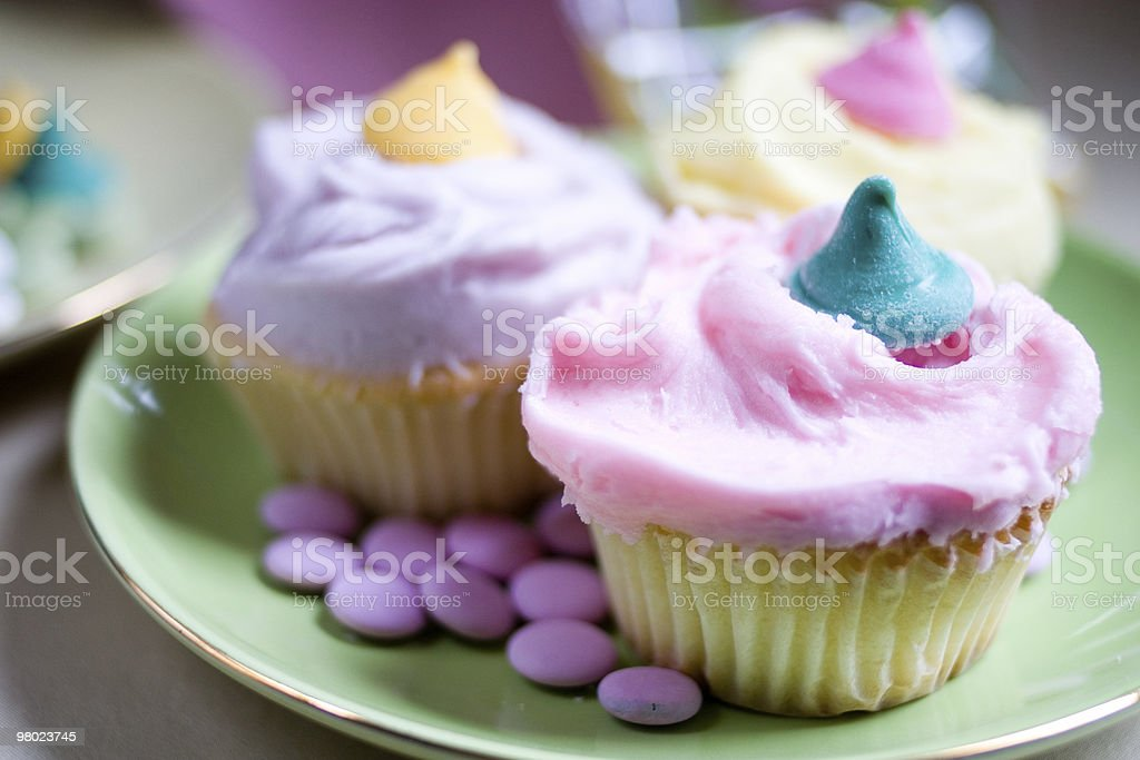 pastel cupcakes royalty-free stock photo