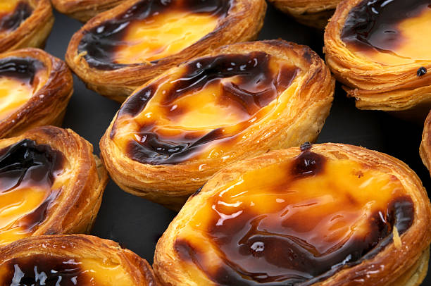 Pastel de nata stock photo