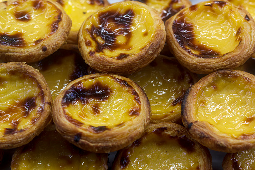 Pastel de nata, typical Portuguese egg tart pastries