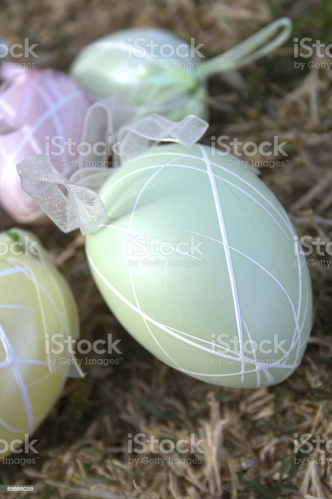Pastel Easter Egg royalty-free stock photo