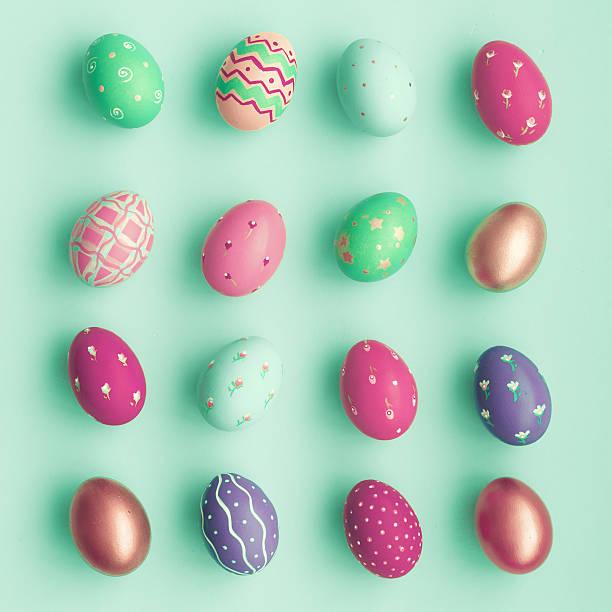 Pastel easter eggs stock photo