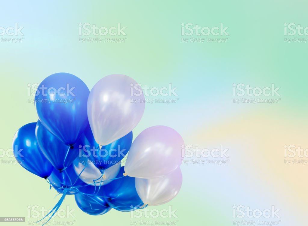 Pastel effected on balloons floating with copy space foto de stock royalty-free