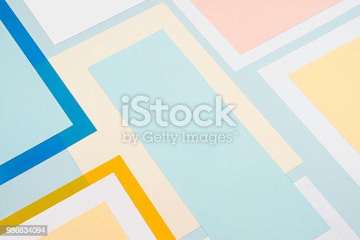istock Pastel Geometrical Background 986634094