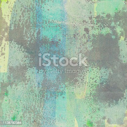 istock Pastel hand painted color background 1128792384