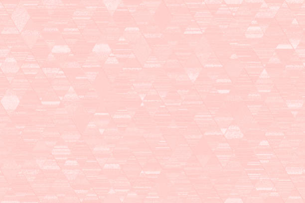 pastel millennial pink grunge diamond triangle pattern seamless pale peachy light blue texture geometric ornament minimalism computer graphic - low poly rose stock photos and pictures