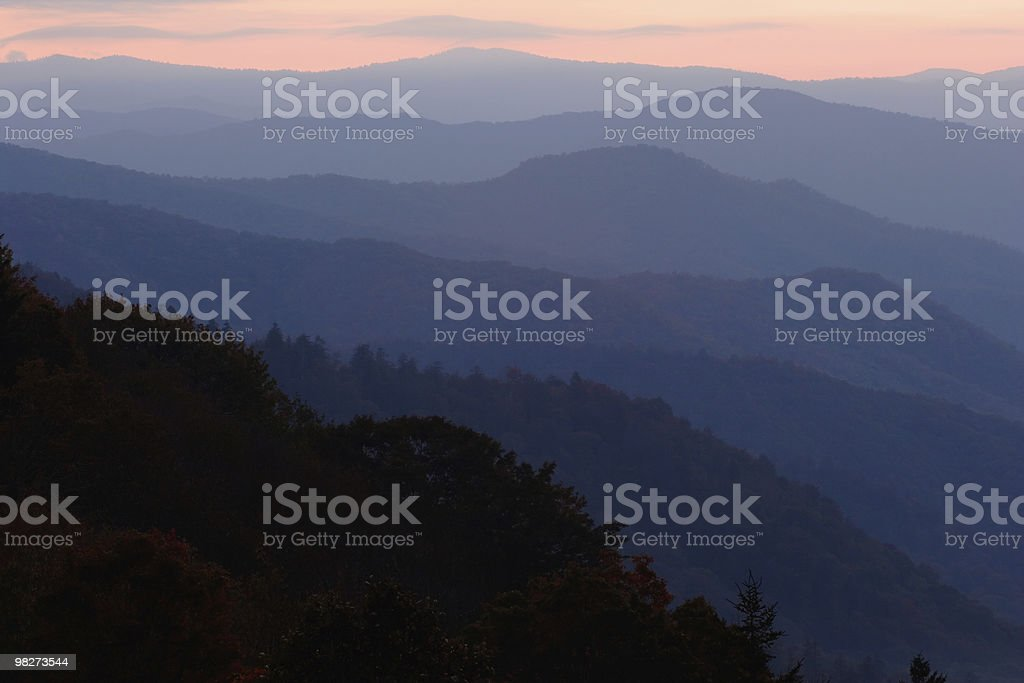 Pastel Mountain Layers royalty-free stock photo