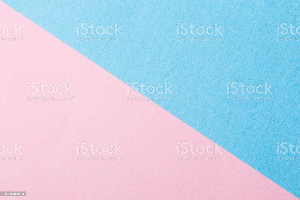 Pastel pink and blue, angular, abstract background stock photo