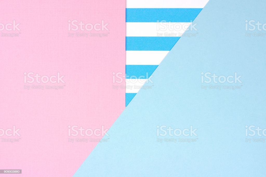 Pastel pink and blue angular abstract background with striped pattern stock photo