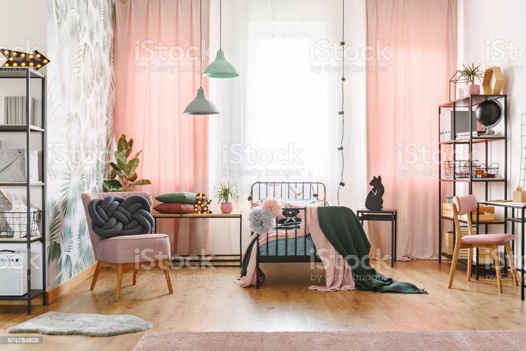 Interieur De Chambre De Fille Rose Pastel Photos Et Plus D Images