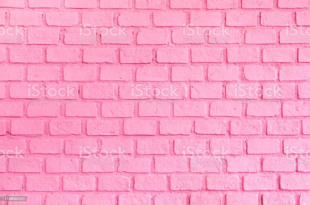 Pastel pembe sipariş tuğla duvar dokusu arka plan, Bayan veya kadın kavramı için zemin - Royalty-free Arka planlar Stok görsel