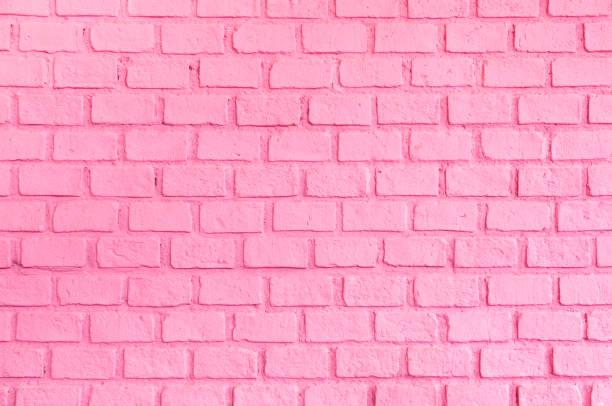 pastelowy różowy uporządkowany tła tekstury ściany ceglanej, tło dla koncepcji damy lub kobiety - różowy zdjęcia i obrazy z banku zdjęć