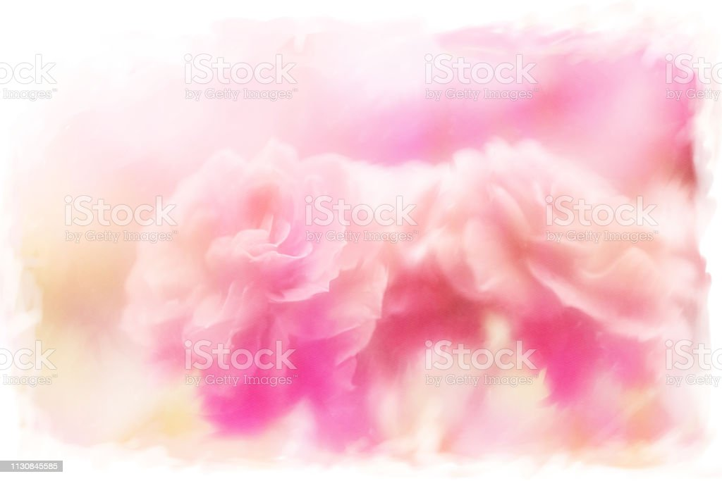 Pastel Pink Painted Roses on abstract background stock photo