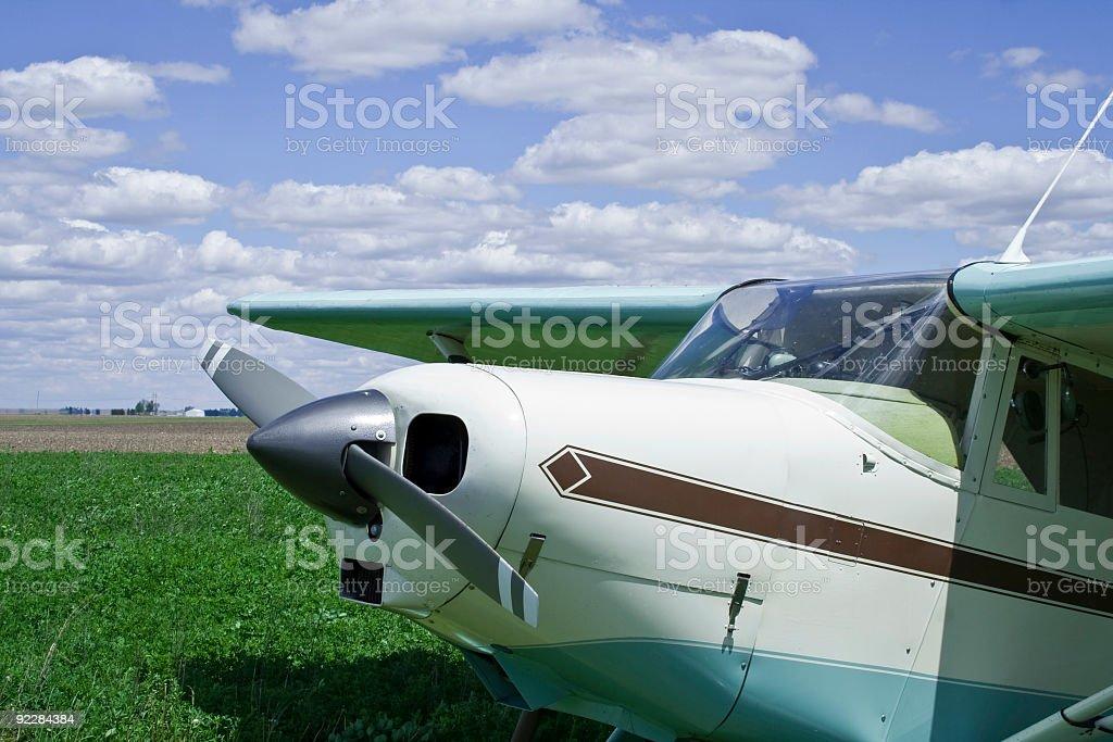 Pastel Plane stock photo