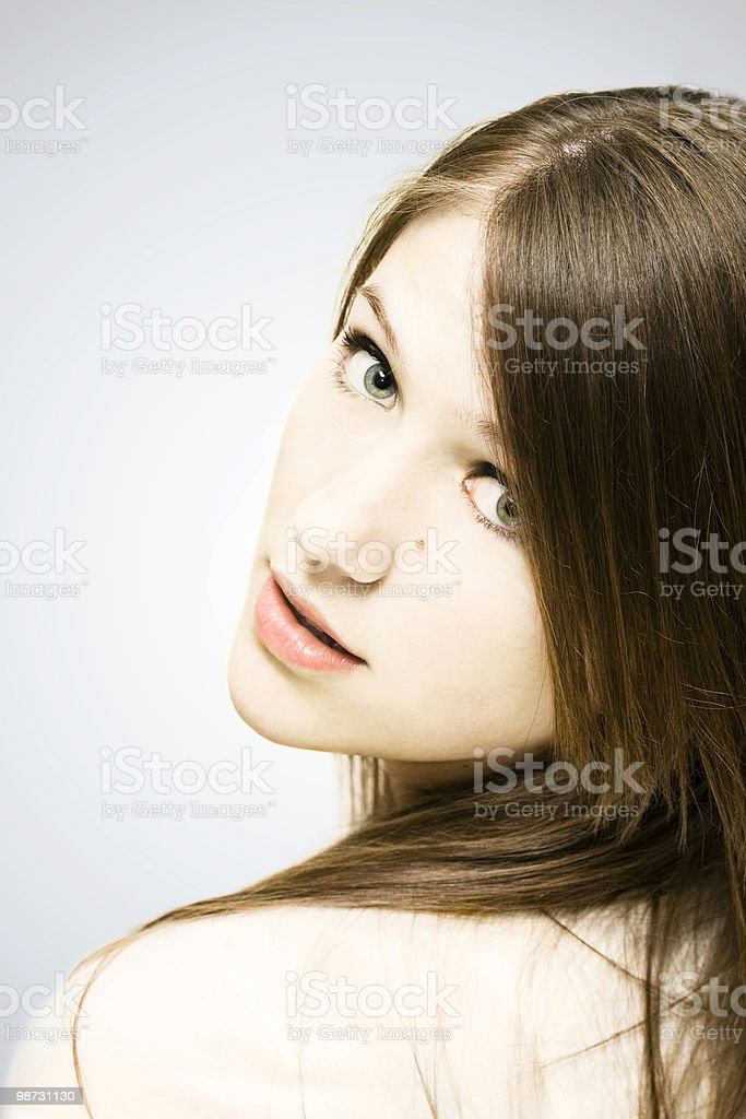 Pastel Portrait royalty-free stock photo