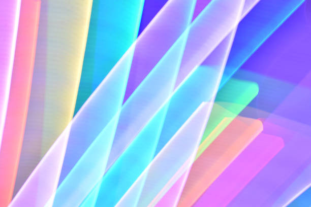 pastel rainbow glow light streaks - steven harrie stock pictures, royalty-free photos & images