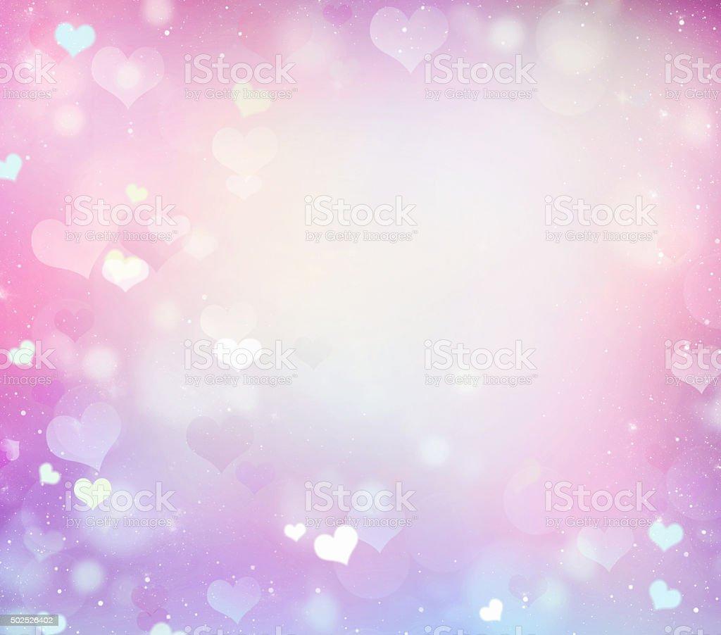 Pastel Romantic Pink Wedding Frame Background Stock Photo