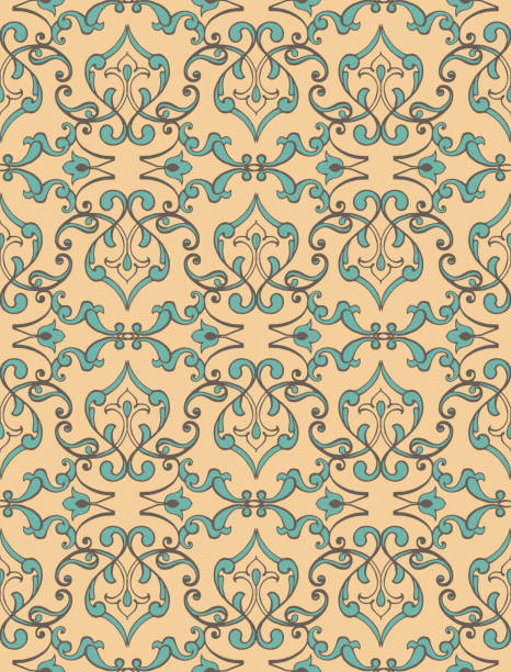 pastel seamless ornament in baroque style. vintage design element. decorative ornament backdrop for fabric, textile, wallpaper, wrapping paper. - filigree stock photos and pictures