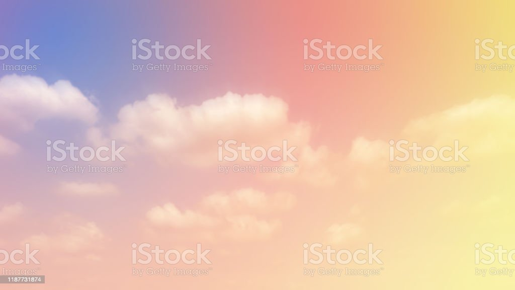Pastel Sky And Cloud Background Multicolor Wallpaper Stock Photo Download Image Now Istock