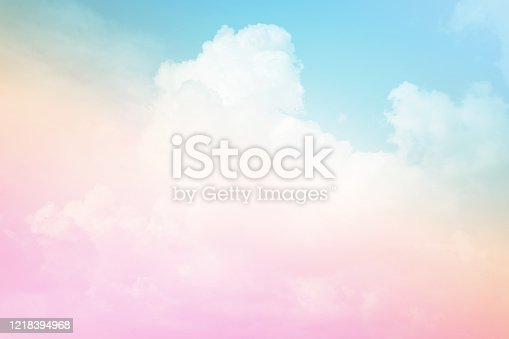 Pastel sky and cloud. Abstract colorful background.
