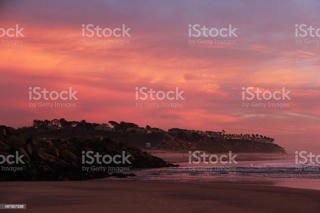 Pastel Sunset Carlsbad California stock photo