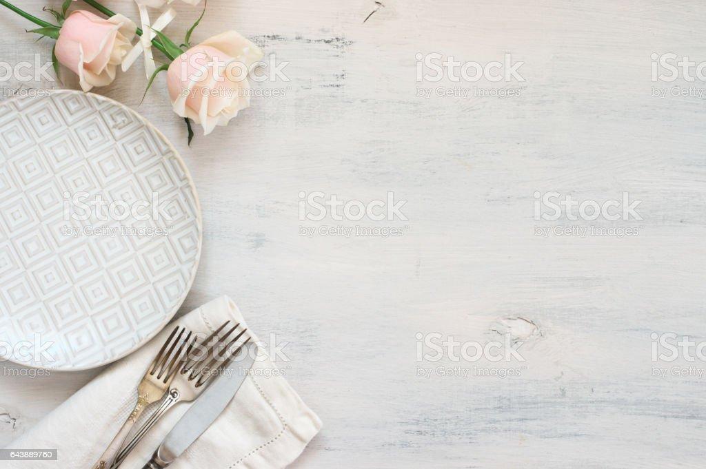 Pastell-Geschirr-set – Foto