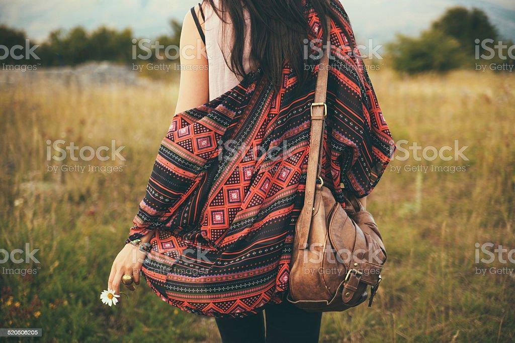 pastel toned summer fashion stock photo