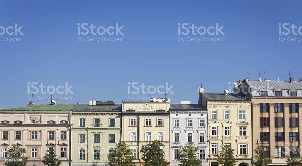 Pastel townhouses royalty-free stock photo