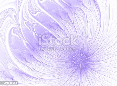 Pastel Living Coral Flower Abstract Pink Orange Daisy on White Background Trendy color Fractal Fine Art Beautiful Holiday Wallpaper Fractal Fine Art