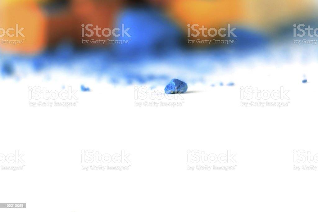 Pastellkreide orange blau 2 stock photo