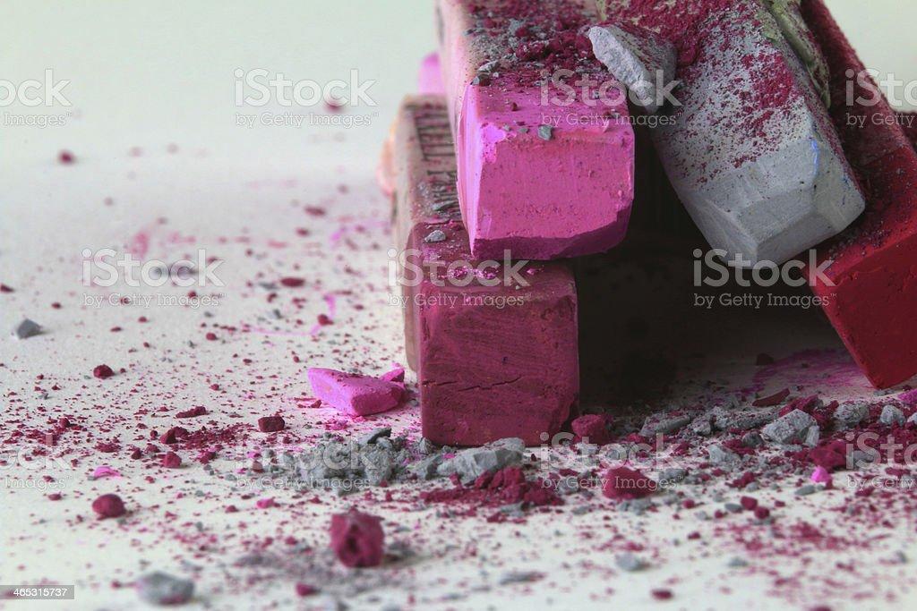 Pastellkreide pink grau stock photo