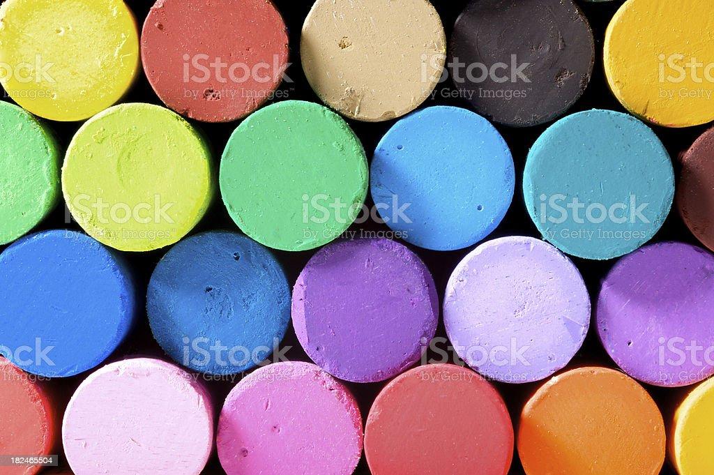 Pastels Macro stock photo